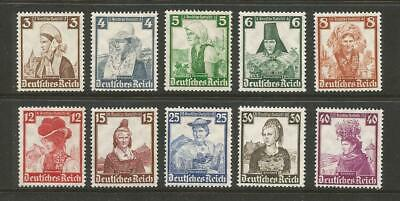 Germany #B69-B78 MLH VF>1935 Costume Complete Set,very nice appearing