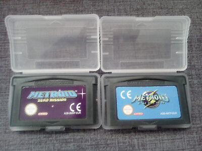 LOTE GBA METROID FUSION & ZERO MISSION game Boy Advance GAMEBOY