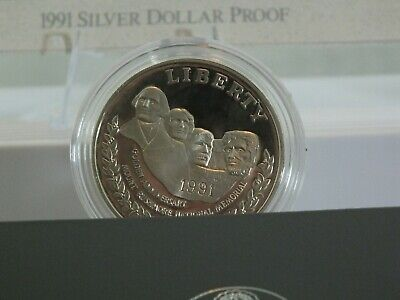 Modern Commemoratives 1991 S Mount Rushmore S$1 Pf No Box