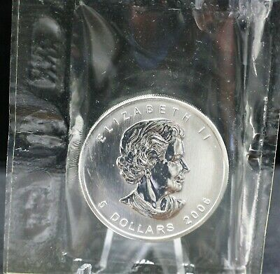 Canada 2006 Pure Silver $5 maple leaf sealed in Thermotron.  1668