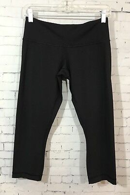 821c7da28 Lululemon Wunder Under Crop 6 Black Full On Luon Yoga Workout Capri Length