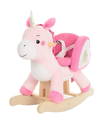 labebe - Baby Rocking Horse, Kid Wooden Rocker, Ride on Toy for 1-3 Year Old, -