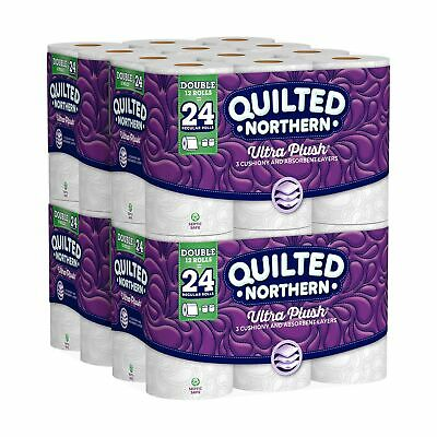 Quilted Northern Ultra Plush Toilet Paper Pack of 48 Double Rolls 4x12 Package