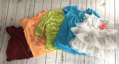 5b9be62c8 Lot of 5 Girls size 3 months Shirts Tops Carters Crazy 8 Circo Ruffles Tulle
