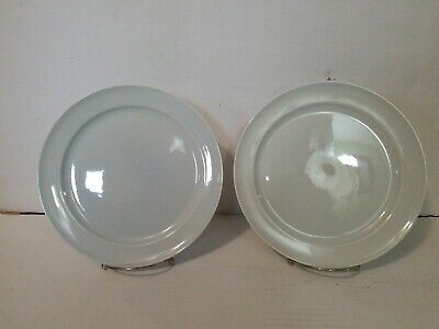 "Luray Pastels Lu-Ray USA Chatham Gray DINNER PLATE 10"" LOT OF 2"