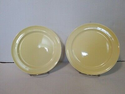"Luray Pastels Lu-Ray USA Persian Cream DINNER PLATE 10"" LOT OF 2"
