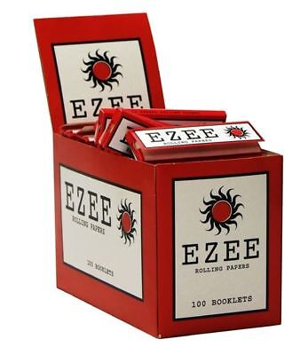 Ezee Red Rolling Paper Box Of 100 Booklets