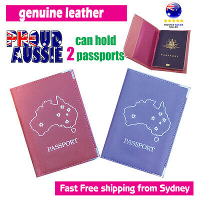 OZ Passport Holder Leather Travel Wallet Cover Case Protector Aussie Edition