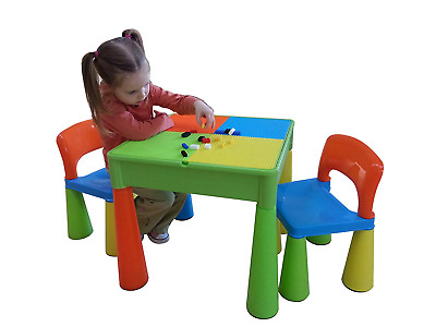 Liberty House Toys 5-in-1 Activity Table and Chairs with Writing