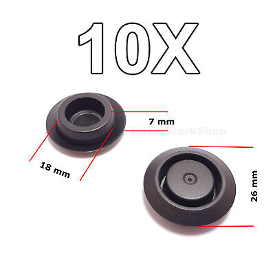 10X Hole Blanking Plugs, Grommets, Door Lock Fixing Hole Caps for Nissan