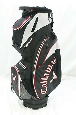 New Callaway XTreme Cart Golf Bag (Black-White-Red) 14-Way Top Cart Golf Bag