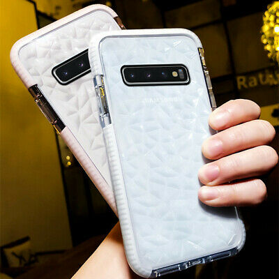 For Samsung Galaxy S10 S10 Plus Crystal Clear TPU Rubber Rugged Soft Case Cover