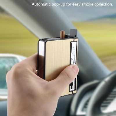 USB Automatic Cigarette Storage Case With Light Inbuilt Windproof Lighter