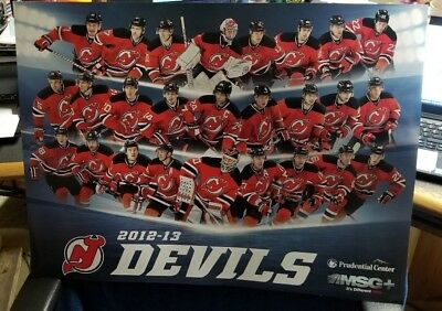 timeless design 42d85 29425 NJ DEVILS 2012-13 Team Poster - Arena Giveaway