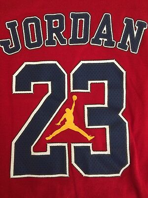 811ff257c66391 Air Jordan 23 Tank-Top Red   White Size Large Jumpman Sleeveless Shirt New