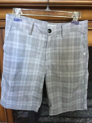 QUIKSILVER ~ Mens Size 30 Gray Checkered Plaid Shorts Surf Skate Casual *EUC*