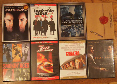 Lot of 8 ACTION FILM DVDs Face Off APOCALYPSE NOW Smokin Aces COLLATERAL