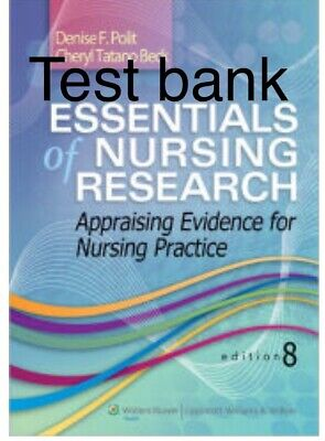 Test Bank Essentials of nursing research 8ed.