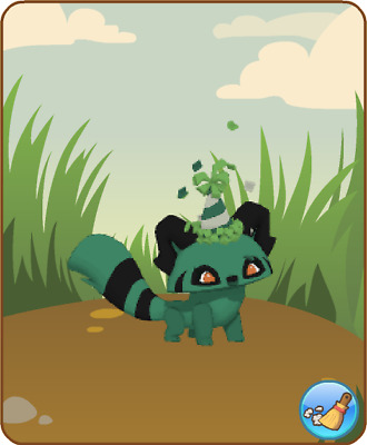 Animal Jam - Green Party hat