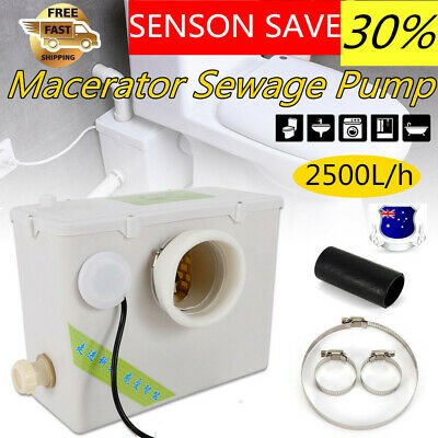 Macerator Sewerage Pump Waste Toilet Sewage Water Disposal Marine Basement Clean