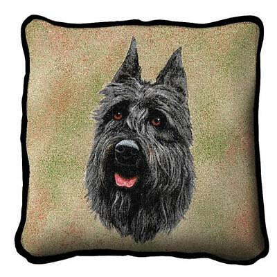 Bouviers des Flandres Dog Pillow with Zipper and insert by Robert May