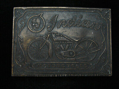 RB09143 VINTAGE 1970s **INDIAN MOTORCYCLES** ADVERTISEMENT BELT BUCKLE