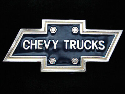 RC05117 *NOS* VINTAGE 1970s **CHEVY TRUCKS** ADVERTISEMENT INSTYLE BELT BUCKLE