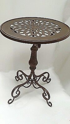 French provincial LARGE  COFFEE SIDE ACCENT TABLE wrought iron    NEW