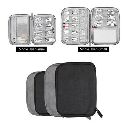 Travel Cable Organizer Electrical Storage Bag Pouch Charging Wire Cord Holder