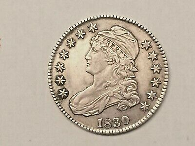 1830 50C Capped Bust Half Dollar - Sharp Detail