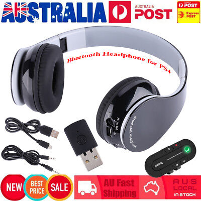 Foldable Bluetooth 4.1 Wireless Stereo Gaming Headsets Headphone W/ MIC for PS4