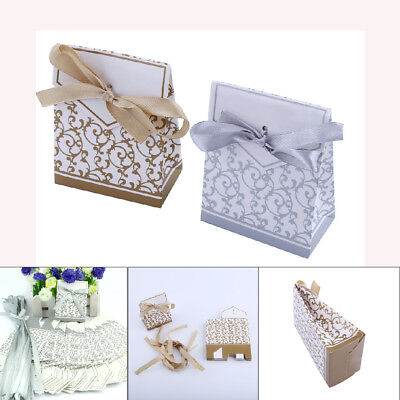 10-100pcs Wedding Favour Favor Sweet Cake Gift Candy Boxes Bags Birthday Party