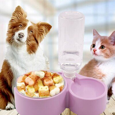 Automatic Fountain Drinker Pet Cat Dog Feeder Dish Bowl Food Water Dispenser@S