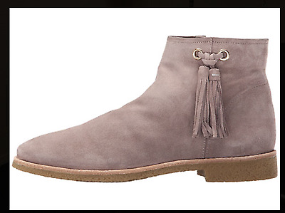 2cf4a2c272cb  258 SIZE 7.5 Kate Spade Bellamy Stone Gray Suede Ankle Boots Womens ...