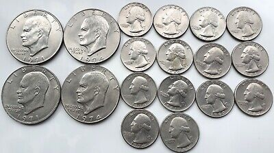 1960s, 70s & 80s - American Silver dollars and quarters.