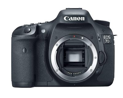 Canon EOS 7D 18.0MP DSLR Camera - Black (Body Only)
