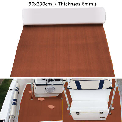 90''x35'' 6MM Brown Marine Boat EVA Foam Flooring Teak Decking Yacht Sheet Mat