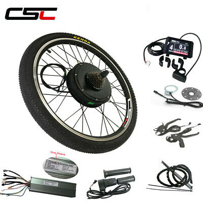 9fe05713cda Electric Wheel Rear Hub Motor Kit 48V 26 500W 1000W 1500W Regeneration EBike