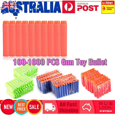 100-1000 Round Head Bullet Darts Blasters for Kids Toy Refill Gun Outdoor Toys