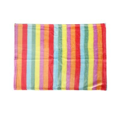 Colorful Striped Pet Blanket Dog Cat Mat Puppy Bed Sofa Soft Winter Warm Flannel