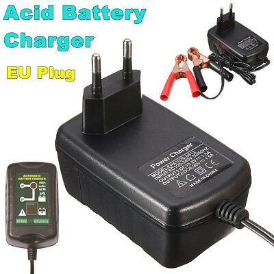 6V/12V 1.5A Smart Motorcycle Ebike Car Fast Lead Acid Battery Charger EU Plug