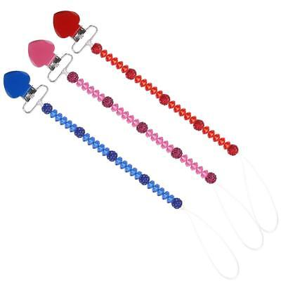 Baby Infant Pacifier Anti-lost Clip Chain Leash Strap Soother Nipple Holder
