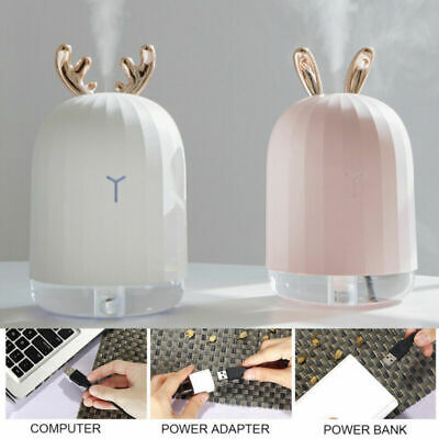 USB Ultrasonic Air Humidifier Essential Oil Aroma Diffuser Aromatherapy 7 LED AU