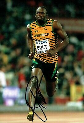 Usain BOLT Olympic Athlete 2019 SIGNED 12x8 Photo 3 AFTAL Autograph COA