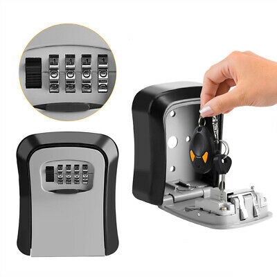Master Lock 4 Digit Combination Password Code Security Padlock Key Storage Box