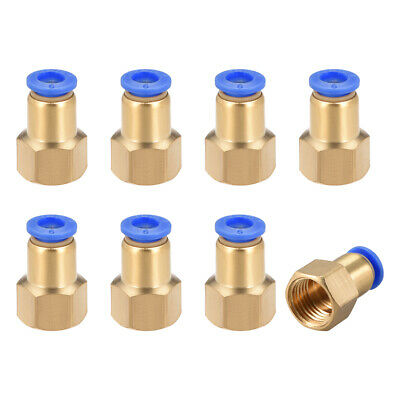 "Push to Connect Tube Fitting Adapter 6mm OD x G1/4"" Female 8pcs"