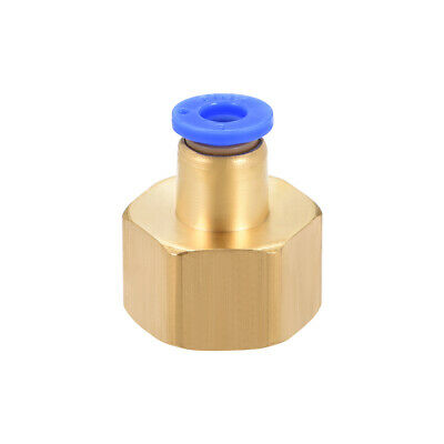 "Push to Connect Tube Fitting Adapter 6mm OD x G1/2"" Female"