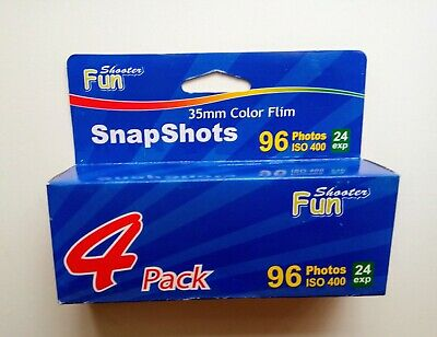4x Unbranded ISO 400 35mm Colour Film 24 Exp (Expired)