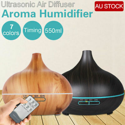 LED 300ml Air Humidifier Purifier Essential Oil Aroma Diffuser Aromatherapy Lamp