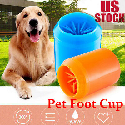 Useful Portable Dog Paw Cleaner Cleaning Brush Cup Pet Foot Cleaner Feet Washers